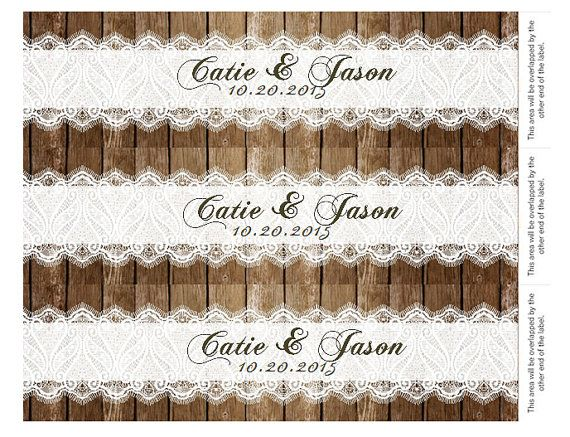 Hey, I found this really awesome Etsy listing at https://www.etsy.com/listing/204021758/lace-water-bottle-label-wedding-wood-diy