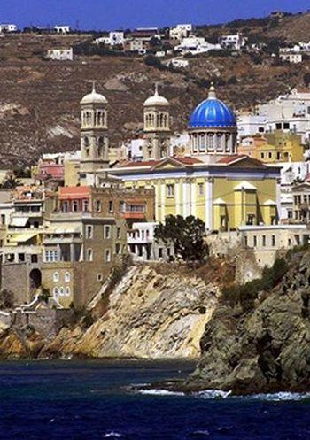 Agios Nikolaos - Ermoupoli, Syros Island (Cyclades), Greece