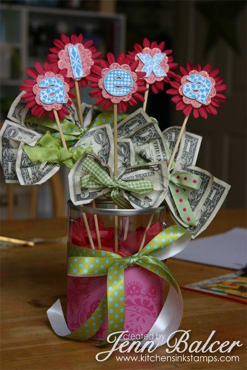 Cash Bouquet | 25+ Creative Ways to Give Money