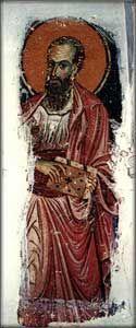 L'apôtre Paul, kellion Ravdouhou, Dépendance de Pantokrator, Karyes, 12 c.
