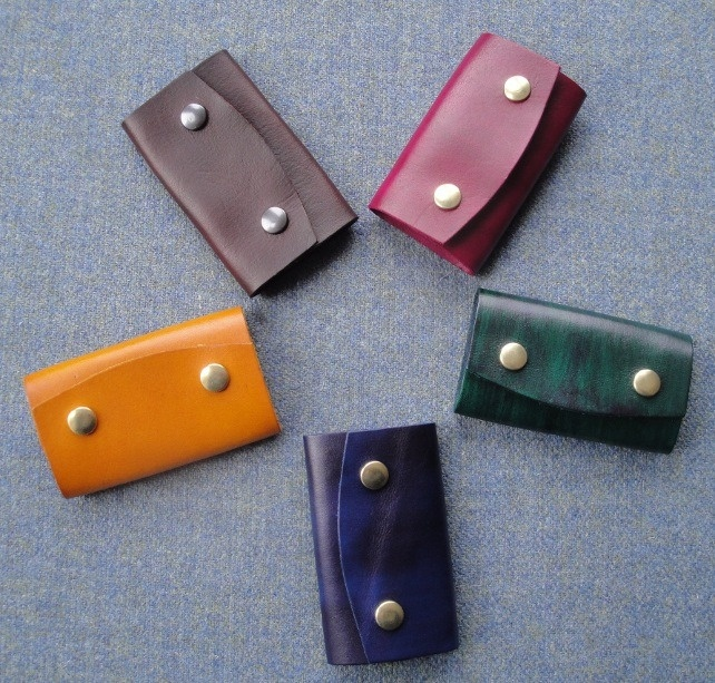 Leather key cases £8.00