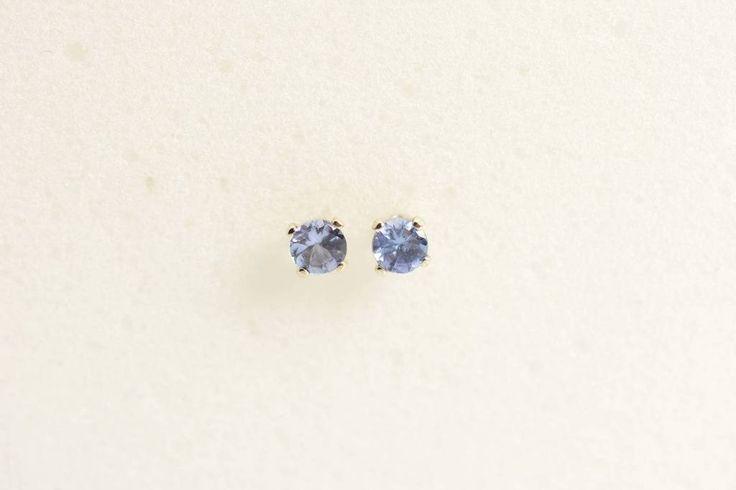 Tanzanite earrings stud - 3MM sterling Silver Children's earrings small earrings December birthstone