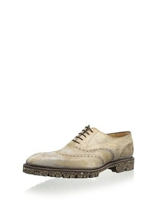 66% OFF Carlos Santos Men's Fundao Wingtip with Antique Finish (Natural Calf)