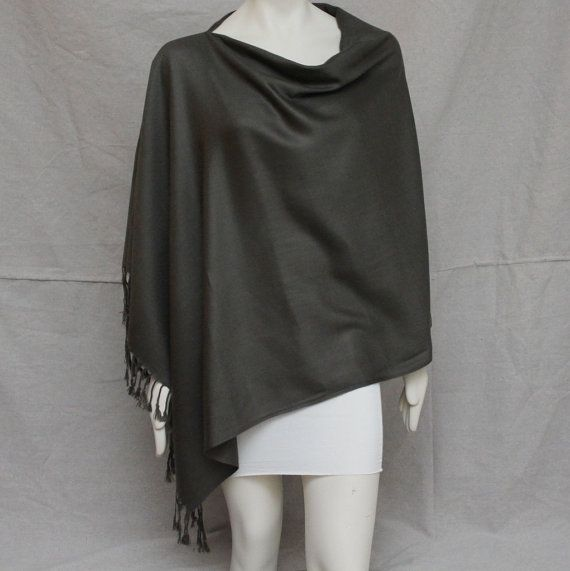 Steel Grey Breastfeeding Nursing Cover Up Pashmina Nursing Top Shawl Poncho Wrap on Etsy, $33.00