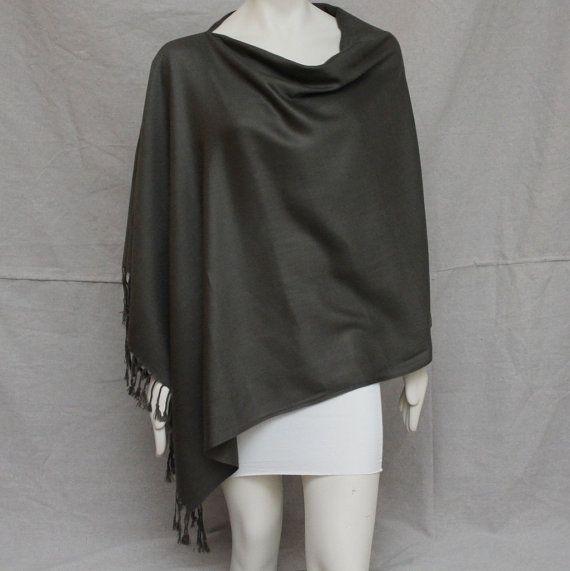 Steel Grey Breastfeeding Nursing Cover Up Pashmina Nursing Top Shawl Poncho Wrap on Etsy, $33.00