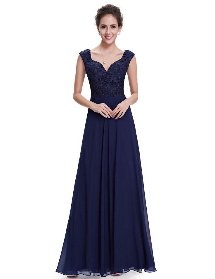 Women's Elegant Long Evening  Party Prom Dress