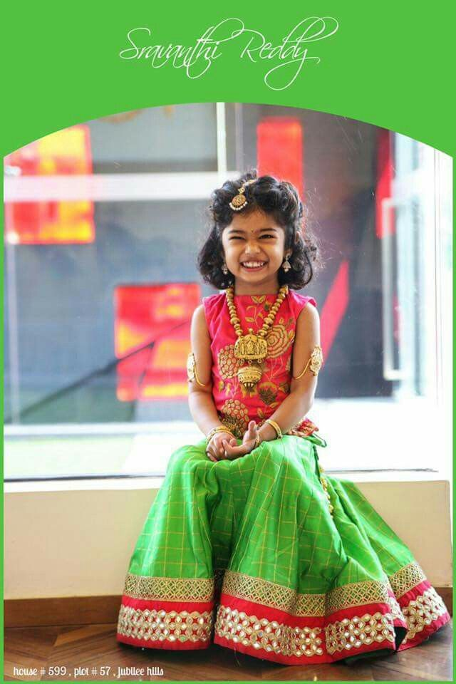 Kids lehenga from https://www.facebook.com/Sravanthi-Reddy-200873179931598/