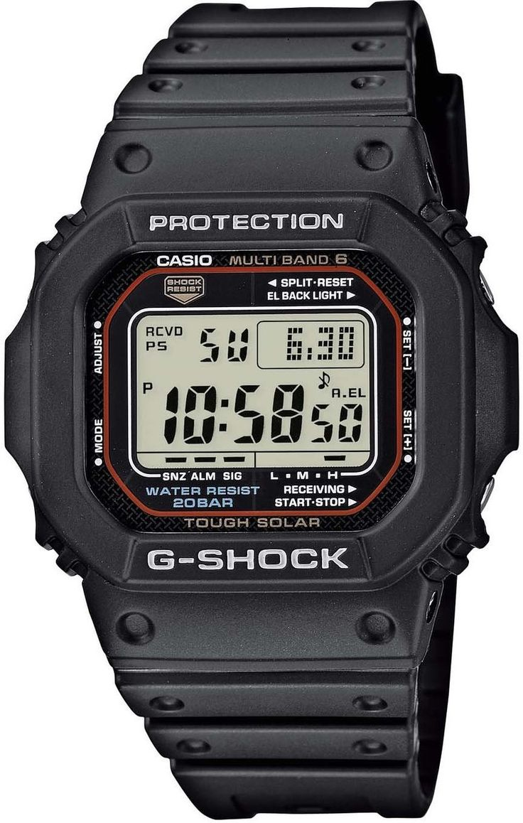 Casio G-Shock Wave Ceptor Radio Controlled Watch. See G Shock solar watches: http://www.watcho.co.uk/watches/casio/g-shock-watches/g-shock-tough-solar-watches.html