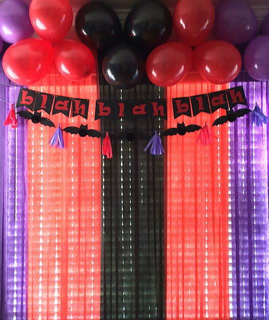 Aly Dosdall: hotel transylvania 2 party decor featuring We R Memory Keepers DIY Party collection, and Banner Punch Board. #DIYParty #fringeandscoreboard #bannerpunchboard #hoteltransylvania2
