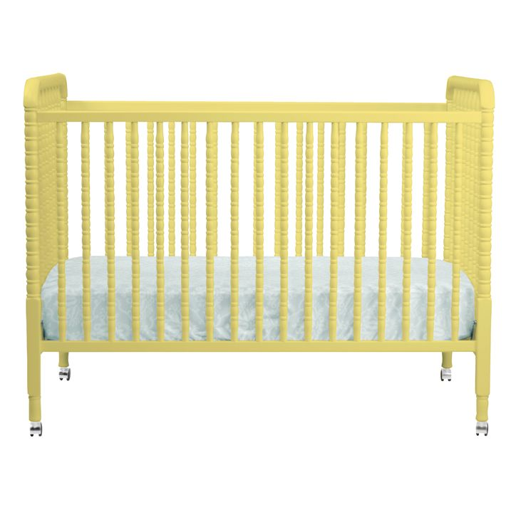 Jenny Lind Crib in Yellow - what a perfect pop of sunshine in the nursery!