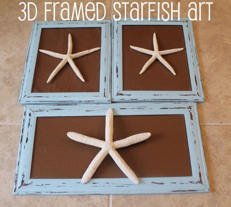 Framed Starfish Art