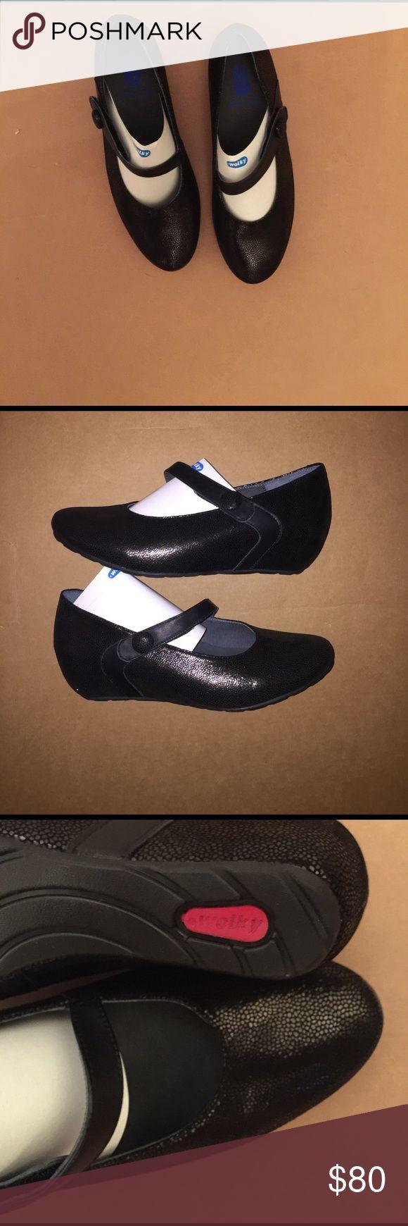 """Nwt, Nib, black Wolky black 1"""" wedge flats NWT black Wolky 1"""" wedge flats wolky Shoes Wedges"""