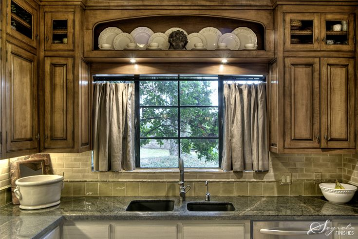 Window Treatment Over the Sink Kitchen Curtains