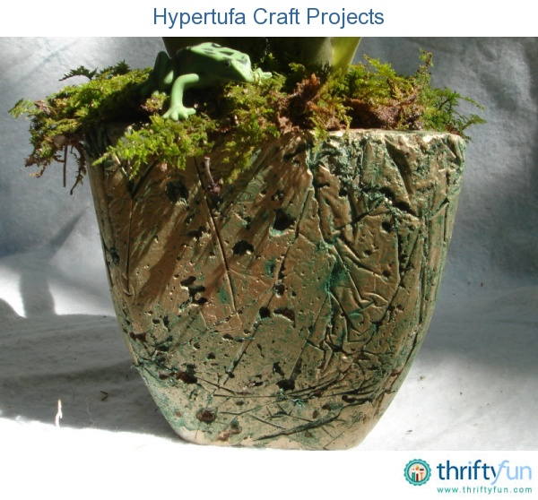 This is a guide about hypertufa craft projects. This simple mixture of Portland cement with substances like perlite and peat moss makes porous artificial stone pots, planters, or garden art in any shape or size you can imagine.