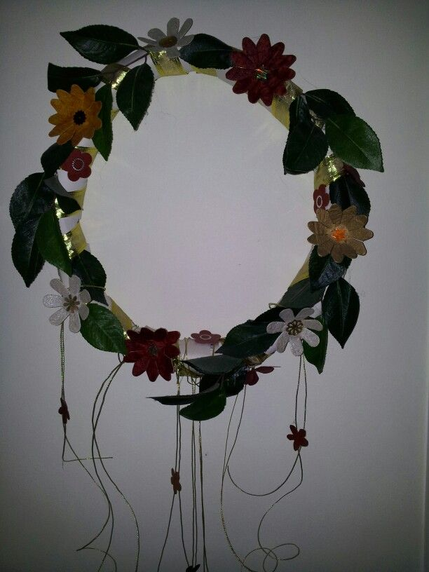 Flower wreath - made it for Christmas a few years back & it's been up ever since :-)