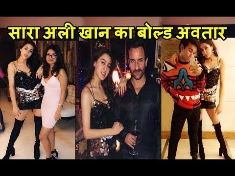 Sara Ali Khan Glamorous Look With Daddy Saif Ali Khan