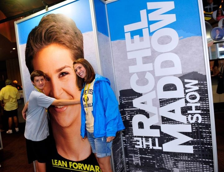 Fan love for Rachel Maddow at the MSNBC Experience at the DNC in Charlotte.