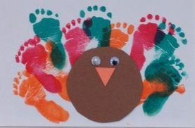 From one of our KinderCare classrooms.    A cute Thanksgiving art project perfect for infants and toddlers. This creates the perfect holiday keepsake for parents.