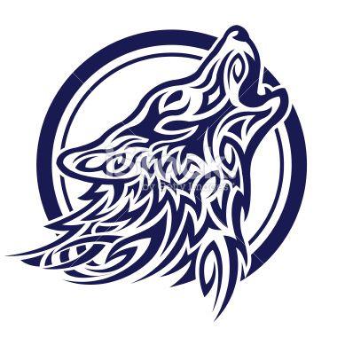 Celtic wolf tatoo Royalty Free Stock Vector Art Illustration