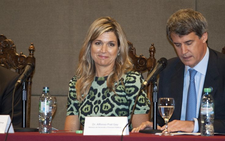 Queen Maxima of The Netherlands expect a conference at the UCA (Universidad Catolica de Buenos Aires) on October 11, 2016 in Buenos Aires, Argentina.