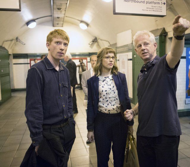 Richard Curtis, Rachel McAdams and Domhnall Gleeson in About Time