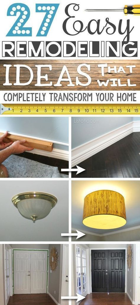 27 easy remodeling ideas that will completely transform your home on a budget - Cheap Decorating Ideas