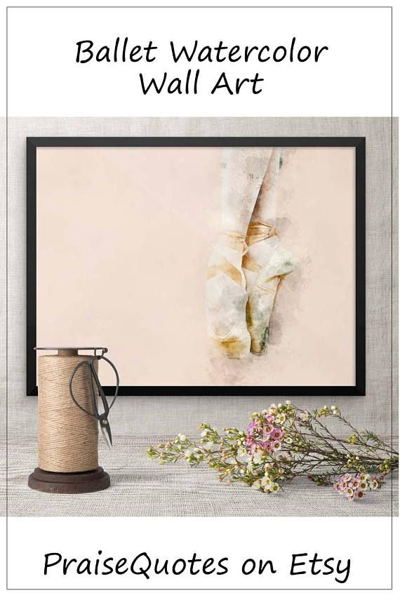 Ballet Watercolor Wall Art Print Dance Poster Framed Art