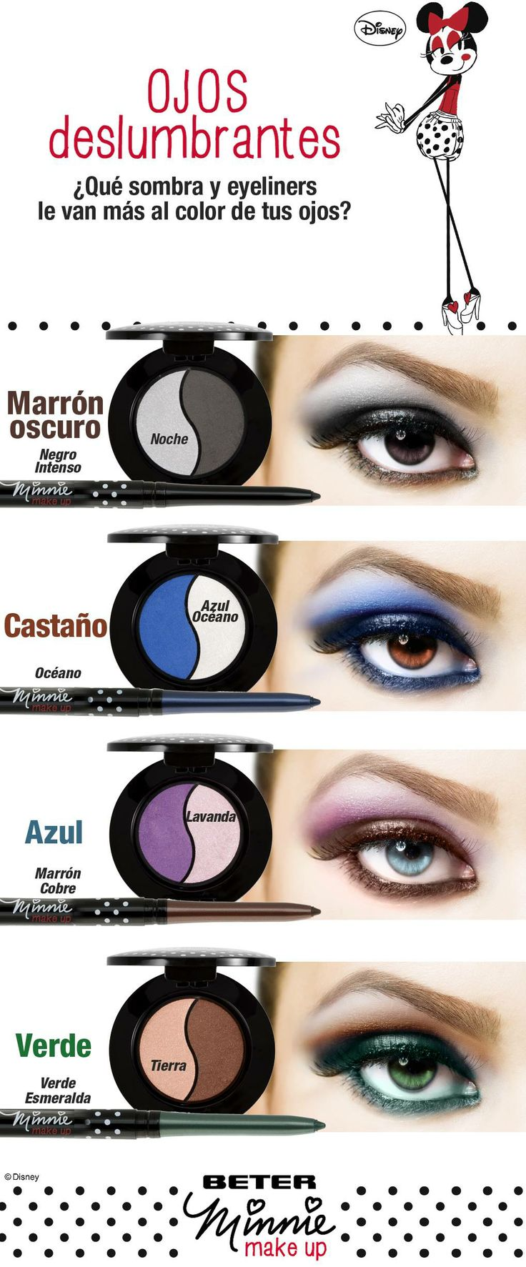 Coordina tus sombras con el color de tus ojos