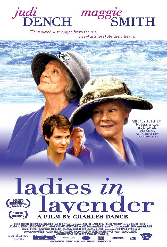 Ladies in Lavender. (2004) dir. by Charles Dance.Two sisters befriend a mysterious foreigner who washes up on the beach of their 1930's Cornish seaside village.