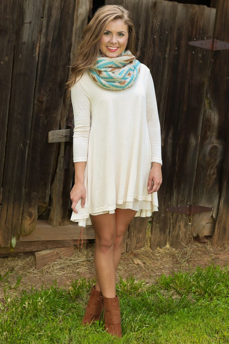 Christmas dress boutiques - By The Fireside Dress Cream Fall First Look Shop By Trend The