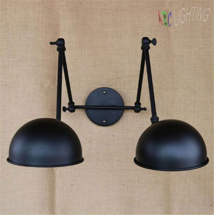 Find More Wall Lamps Information about Double Swing Arm wall Lights Bedside novelty indoor lamp modern Wall Sconce bedroom wall lamps Reading Light E27 lighting decor,High Quality e27 ceramic lamp holder,China e27 jdr Suppliers, Cheap e27 lampholder from ABC Lighting on Aliexpress.com