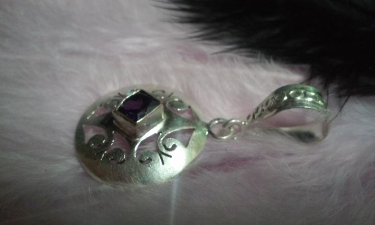 Amethyst silver medal by Zsuzsanka on Etsy