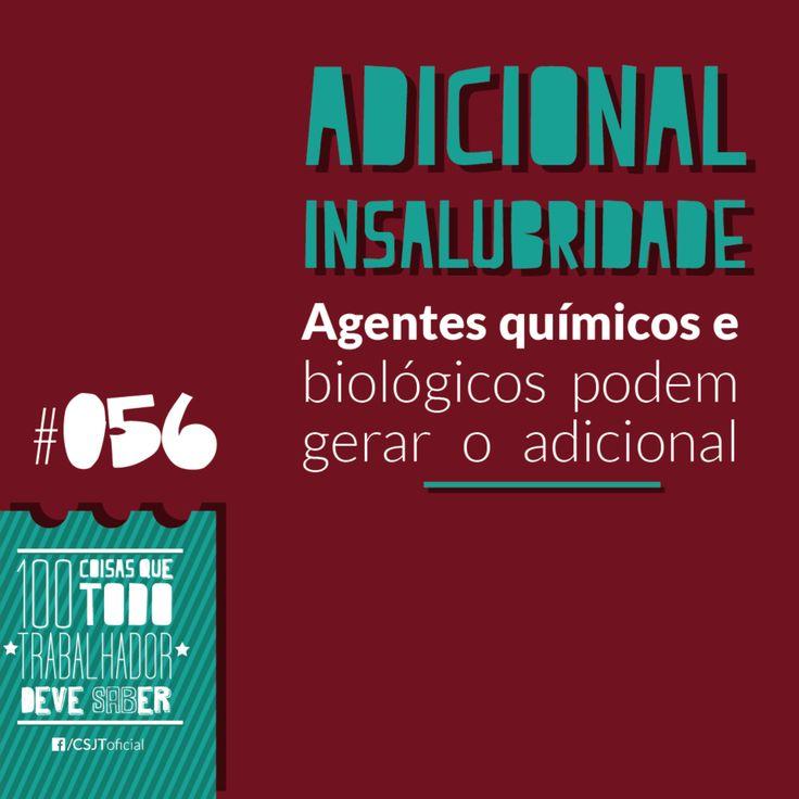 Fonte: Conselho Superior da Justiça do Trabalho (CSJT)  #Adicionaldeinsalubridade #Agentesquímicos #Adicional