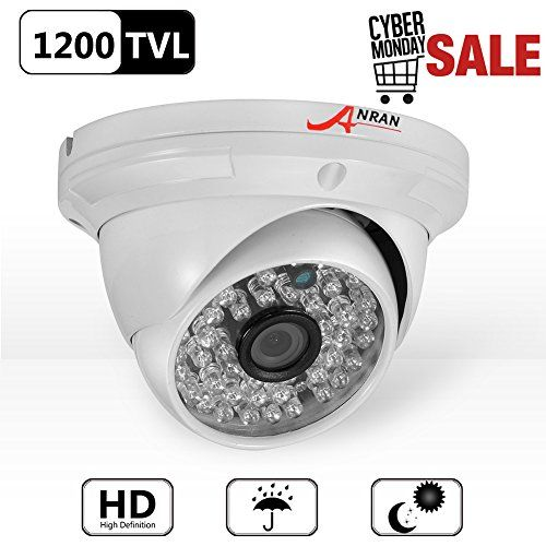 From 23.99 Anran 1200tvl Analog Security Camera High Resolution Home Cctv Dome Surveillance Camera 48 Ir Leds Day Night Vision Infrared Waterproof Outdoor Indoor