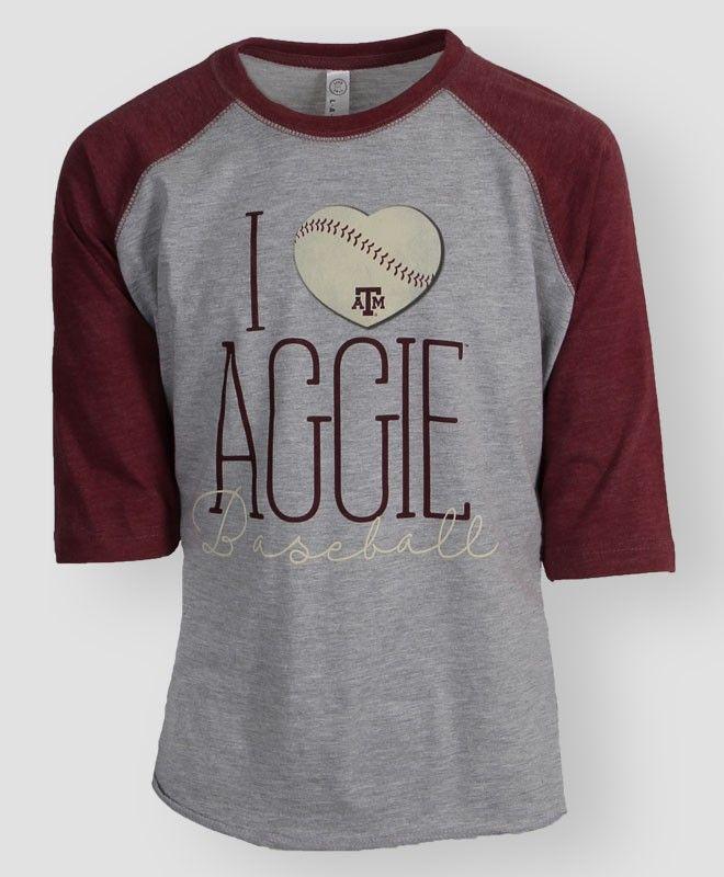 I love Aggie Baseball raglan t-shirt #AggieGifts #AggieStyle