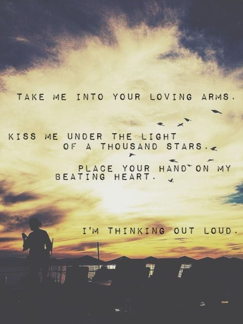 Thinking Out Loud by Ed Sheeran is such a beautiful song. It's no wonder it won him two Grammys