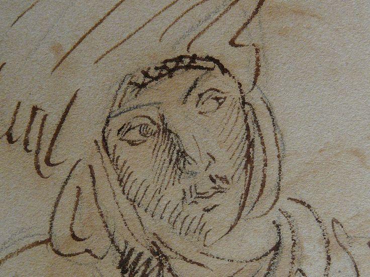 CHASSERIAU Théodore,1846 - Arabe à mi-corps - drawing - Détail 4