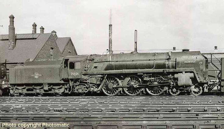 February 1960, Polar Star @ Cardiff Canton 70026, Britannia Class Locomotive