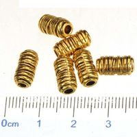 100pcs 2014 fashion accessories findings for jewelry antique gold metal cylinder tube beads