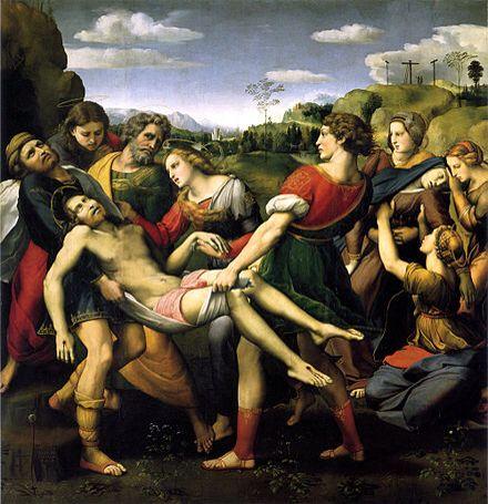 Lamentación sobre Cristo muerto  Rafael 1507