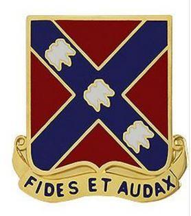 134th Field Artillery Regiment Unit Crest (Fides Et Audax)