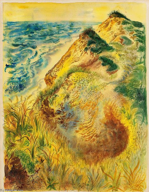 """George Grosz >> Truro Memory of Cape Cod by Edna St. Vincent Millay """"The wind in the ash-tree sounds like surf on the shore at Truro. I will shut my eyes . . . """""""