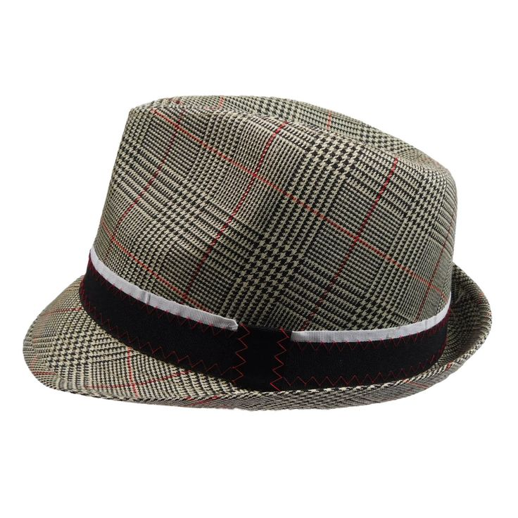 Plaid Fedora with Black Band