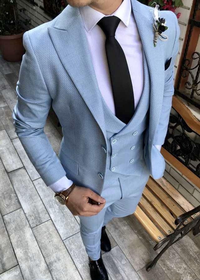 Gentlemen Are You Loving This Light Blue Windowpane Men S Suit As