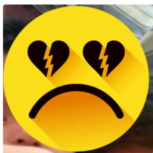 Emoticon con el corazón roto