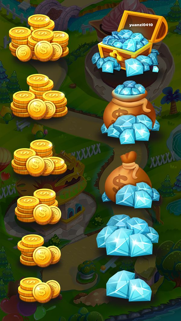 coins diamonds pack