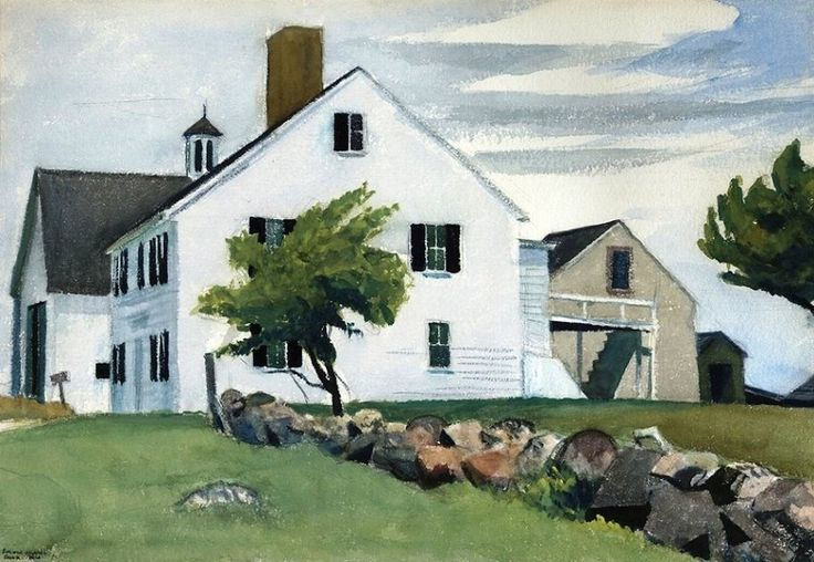 Edward Hopper: Farm House at Essex - Massachusetts, 1929