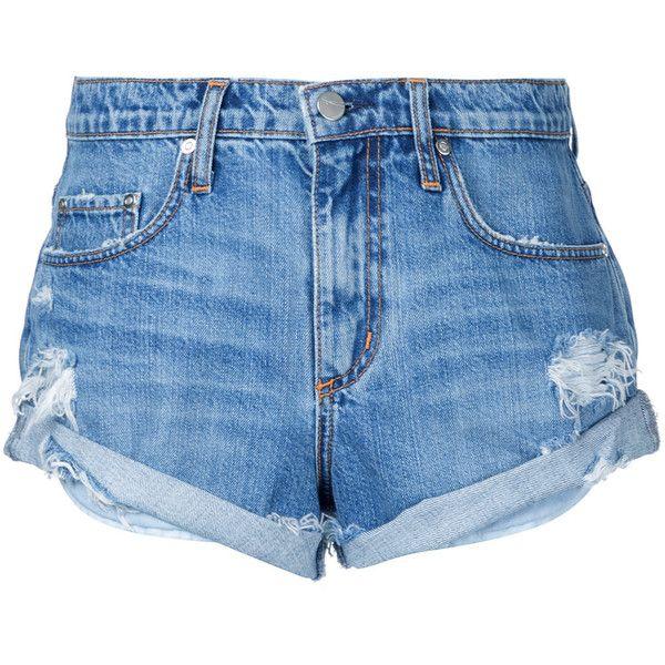 Nobody Denim Boho Short Angellic ($150) ❤ liked on Polyvore featuring shorts, blue, ripped short shorts, mid rise shorts, nobody denim, short shorts and relaxed fit shorts