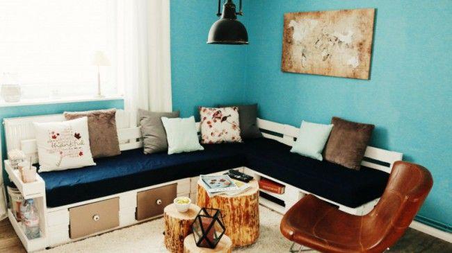 Palettensofa-Sofa aus Paletten -Sofa aus Europaletten- DIY