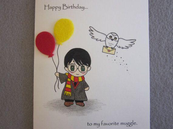 Открытка на день рождения гарри поттер, птиц